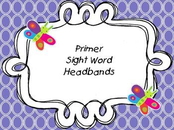 Primer Sight Word Headbands