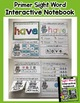 Interactive Sight Word Notebook - Primer