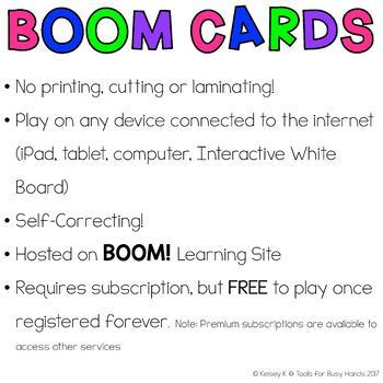 Primer Sight Word Interactive Digital Task Cards (Boom! Deck)