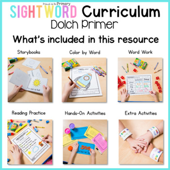 Dolch Sight Words Curriculum - Primer Words