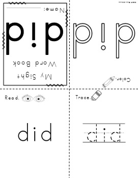Primer Sight Word Mini Books