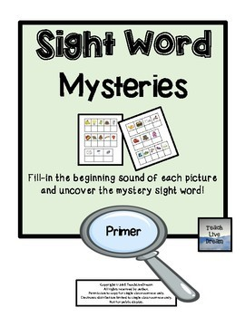 Sight Word Mysteries (Dolch Primer Words)