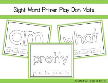 Primer Sight Word Play Doh Mats