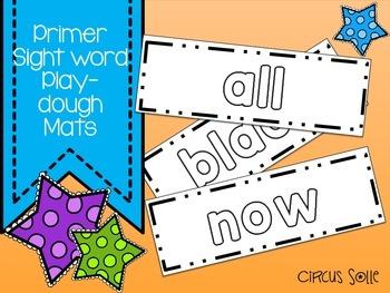 Primer Sight Word Play Dough Mats