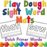 Primer Sight Word Play Dough Mats Center Activity -OR- Col