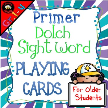 Sight Word Playing Cards: Dolch Primer