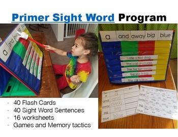Primer Sight Words: Year Long Program Pack