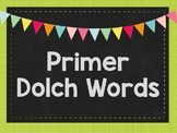 Primer Sight Word Scramble