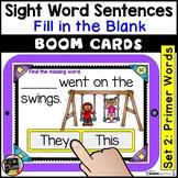 Primer Sight Words Sentences   BOOM Cards   Digital Task Cards