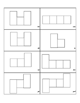 Primer Sight Word Shape Boxes