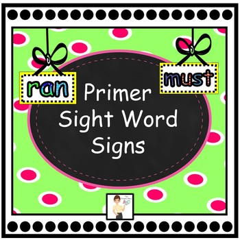Primer Sight Word Signs