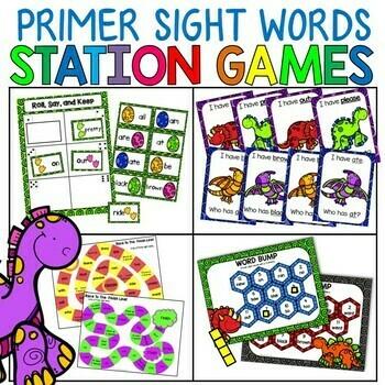 Primer Sight Words Station Games