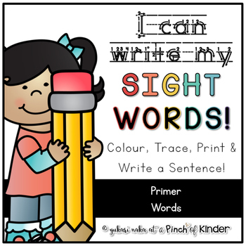I Can Write My Sight Words - Primer Words