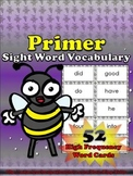Primer Sight Word Vocabulary - 52 High Frequency Word Cards - King Virtue
