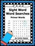Primer Sight Word Word Searches