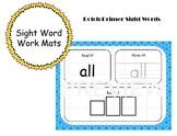 Primer Sight Word Work Mats