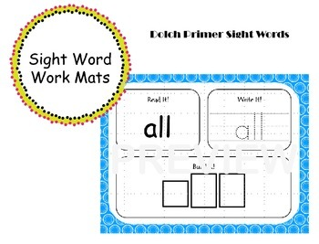Primer Sight Word Work Mats