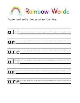 Dolch Primer Sight Word Workbook
