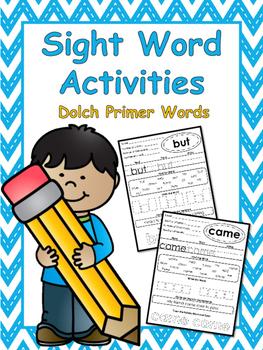 Primer Sight Word Worksheets