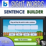 Primer Sight Word and CVC/CVCe Sentence Builder Boom Cards™