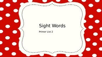 Primer Sight Words