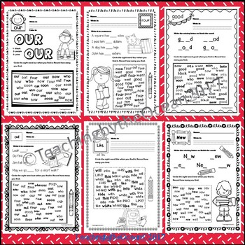 Primer Sight Words Activities - Back to School Themed
