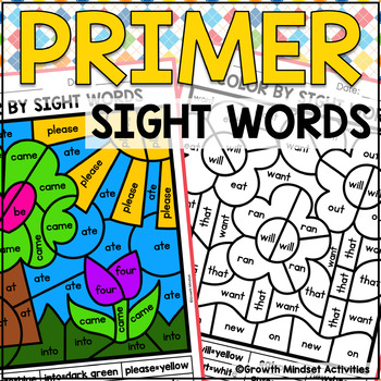 Primer Sight Words Color by code