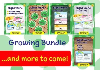 Primer Sight Words -- Dino Theme GROWING BUNDLE