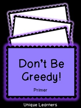 {Primer Sight Words} Don't Be Greedy Card Game