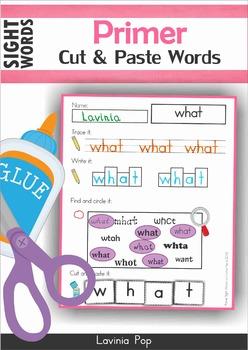 Primer Sight Words FREE SAMPLER