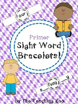 Primer Sight Words Fun Learning Bracelets