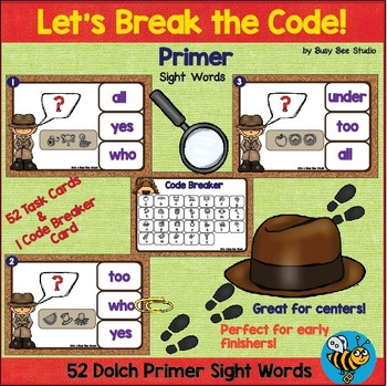 Sight Words Game: Let's Break the Code (Dolch Primer Words)