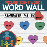 Primer Sight Words - Heart Word Wall