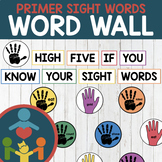 Primer Sight Words - High-Five Word Wall