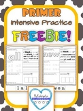 Primer Sight Words: Intensive Practice Free Sample