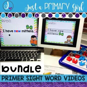 Primer Sight Words Interactive Videos bundle