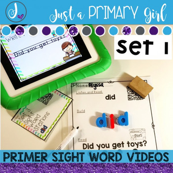 Primer Sight Words Interactive Video Set 1