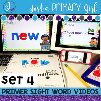 Primer Sight Words Interactive Video Set 4