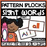 Primer Sight Words Pattern Blocks Center