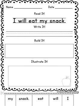 Primer Sight Words Sentence Builders