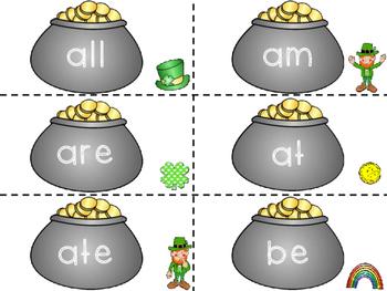 Primer Sight Words- St. Patrick's Day