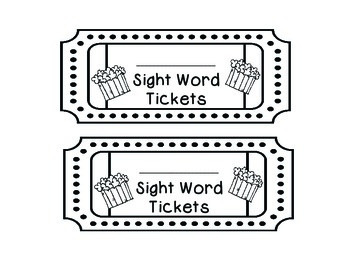 Dolch Sight Words Tickets: Primer