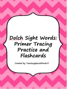 Primer Sight Words Tracing Practice and Flashcards