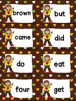 Primer Sight Words cards - Fall Themed