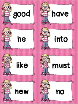 Primer Sight Words Cards - Summer Themed