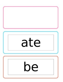 Primer Sight Words with Chevron Border