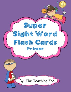 Primer Super Sight Words Flash Cards & Word Wall Cards