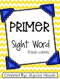 Primer Dolch Flash Cards- Primary Colored
