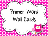 Primer Word Wall Cards