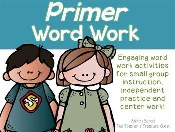 Primer  Sight Words Work